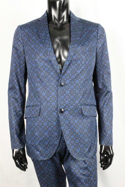 エトロ [ ETRO ] ペイズリー柄 セットアップスーツ ネイビー 紺色 SIZE[46 48] メンズ シングルジャケット パンツ