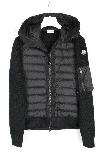 モンクレール [ MONCLER ] 19AW ダウンニット パーカー ブラック 黒 SIZE[S] メンズ ダウンジャケット パーカ セーター