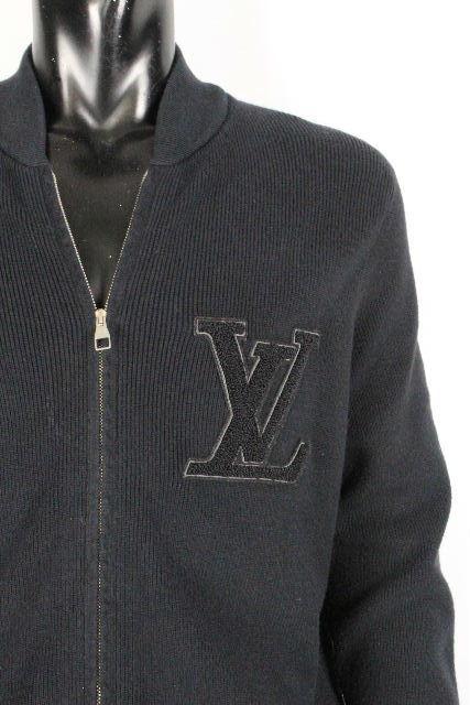ルイヴィトン [ LOUISVUITTON ] ビッグLV カシミヤ混 ジップアップ ニット セーター ブラック 黒 SIZE[S] メンズ ヴィトン ビトン ジャケット ブルゾン
